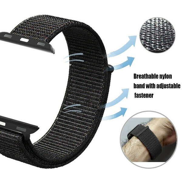 Cinturino Nylon Tessuto Compatibile Apple Watch Serie 5/4/3/2/1 38/40mm 42/44mm