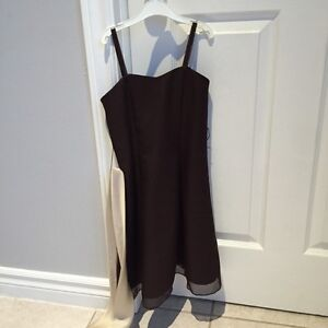 Junior Bridesmaid Dress - Brown Size 2 - Ages 5-7