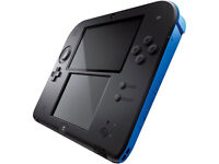Black/Blue 2DS with charger.
