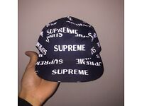 SUPREME REFLECTIVE CAP IN BLACK