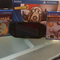 Selling a gently used PS Vita with 2 games