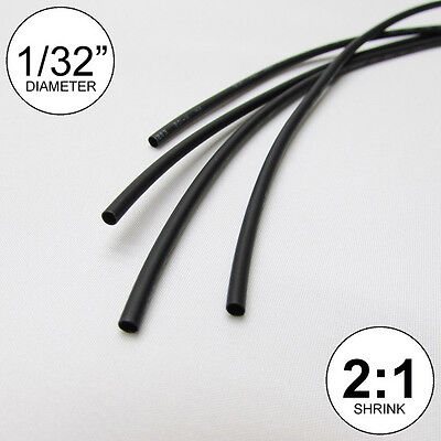 132 Id Black Heat Shrink Tube 21 Ratio Wrap 6x9 4 Ft Inchfeetto 0.8mm