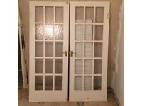 Internal French doors(used)