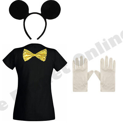ADULT LADIES MICKEY MOUSE FANCY DRESS COSTUME HEN NIGHT PARTY