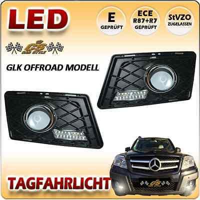 Mercedes Benz GLK Offroad X204 LED Tagfahrlicht SET im Gitter Bj. 2008-2011 NEU