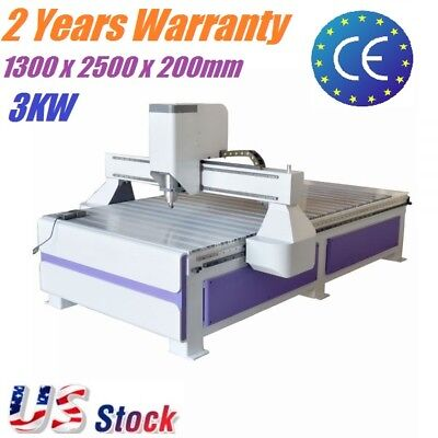 3kw Wood Mdf Metal Cnc Router Engraving Drilling Milling Machine Dsp 1300x2500mm
