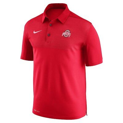 New w tag Nike Mens short sleeve Ohio State elite Coaches sideline Polo shirt