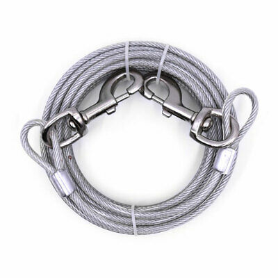 Heavy Duty Extra-Large Jumbo Dog Tie Out Cable Pet Steel Leashes Run (Giant Tie Out Cable)
