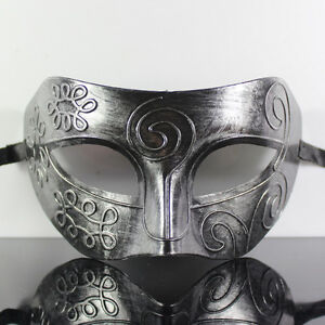 Silver-Roman-Greek-Mens-Venetian-Halloween-Costume-Party-Masquerade-Mask