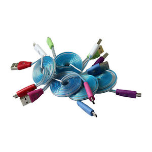 LIGHT UP LED MICRO USB DATA CABLE CHARGER FOR HTC LG SAMSUNG SON Regina Regina Area image 2