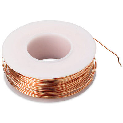 Bare Copper Wire 18 awg 4 oz Spool (50 Feet) Diameter 0.040 Awg 50 Spool
