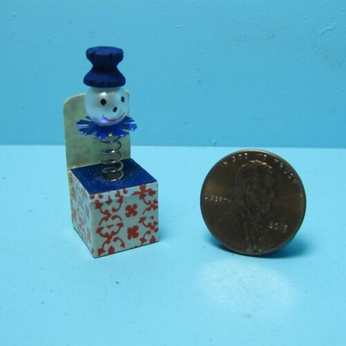 Dollhouse Miniature Jack In The Box Toy - Blue  B1640