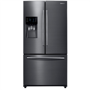 Samsung 24.6 cubic ft Black Stainless Bottom Freezer French Door