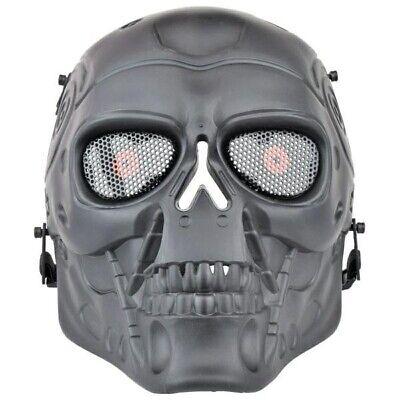 Maschera Tattica Terminator Nera softair Teschio WoSport