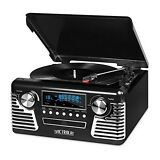 Victrola 50s Retro 3-Speed Bluetooth Turntable w/ Stereo, CD Player and Speakers