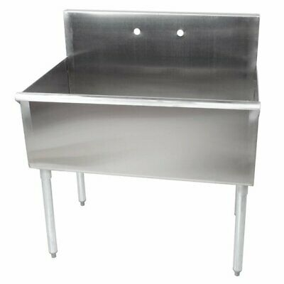 Commercial Sink 16-gauge Steel 36 X 24 X 14 Bowl Without Drainboard Regency