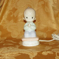PRECIOUS MOMENTS NIGHT LIGHT BOY CHRISTENING GIFT BABY DECOR