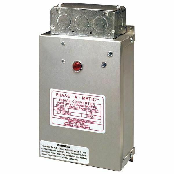 Phase-a-Matic Static Phase Converter #PC-900, 4-8HP, 24 Max Amps