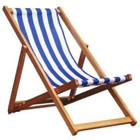 Traditional Folding Hardwood Garden Beach Deck Chairs Deckchairs