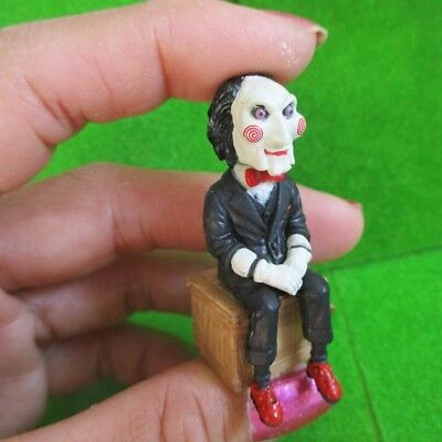 billy the puppet figure sit on box 1:16 scale miniature doll saw horror - Saw Billy The Puppet