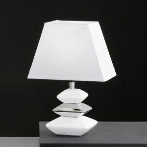 Lampada da tavolo da comodino design ceramica paralume - Lampada comodino design ...