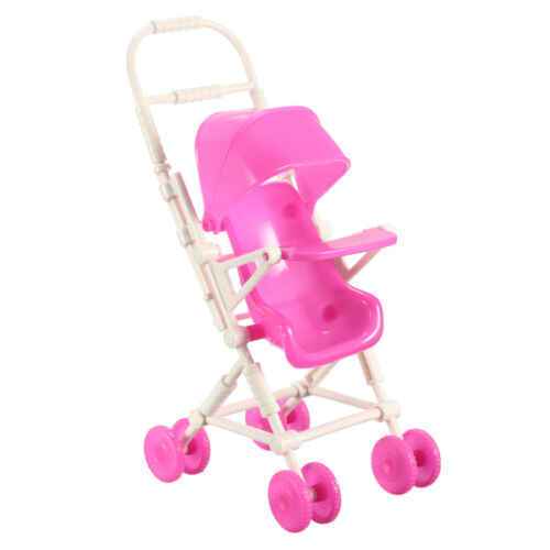 Barbie Doll Furniture Cute Plastic Baby Carriage Stroller