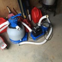 Pool filter with pump