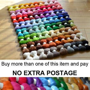 80-Colours-Felting-Wool-Tops-Roving-PART-2-Premium-Australian-Wool-Needle-Felt
