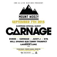 1 MOUNT WOOZY TICKET 85$- WILL SHOW PROOF OF PRUCHASE