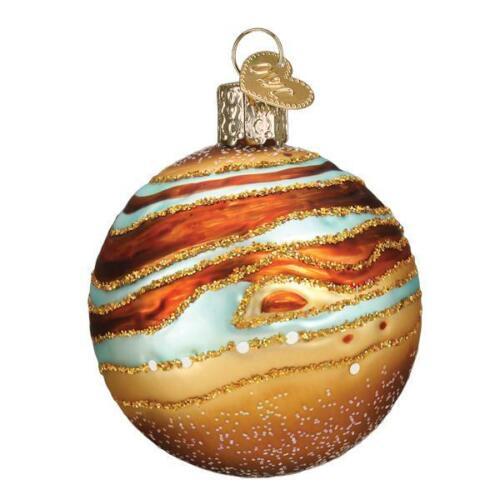 Jupiter Planet Glass Ornament Old World Christmas New Solar System