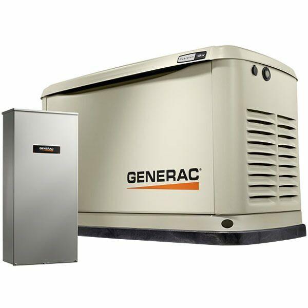 Generac Guardian 16kW Aluminum Standby Generator System (100A ATS w/ 16-Circu...