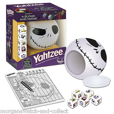 The Nightmare Before Christmas Yahtzee Collectors Edition Jack Skellington Cup