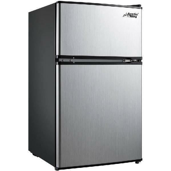 Compact Refrigerator 2-Door Mini Fridge Freezer Stainless St