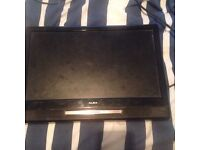 "15"" tv with dvd no remote or base"