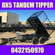 8X5 TANDEM HYDRAULIC TIPPER TRAILER W CAGE HEAVY DUTY BOX TRAILER Clayton Monash Area Preview