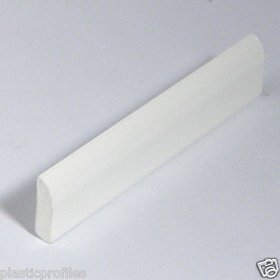 WHITE PLASTIC UPVC PVC FLAT 20mm EDGE FILLET FINISHING BEAD TRIM 5m - 2 X 2.5m