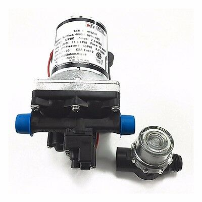 Shurflo RV Water Pump 12V 3.0 Gpm 4008-101-A65 with Strainer Free -