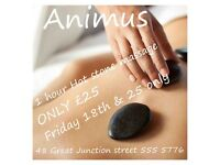 Hot stone massage ONLY £25 fri 18th & fri 25th November