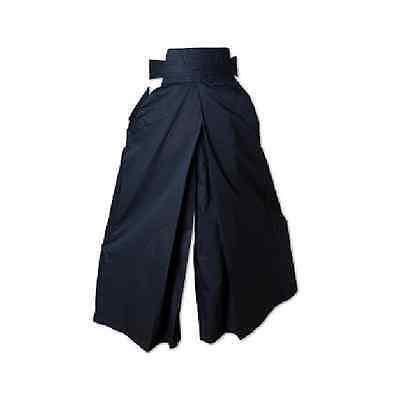 Kendo Hakama Uniform Japanese Martial Arts Aikido Training Gear - Black 7.5 (Kendo Gear)