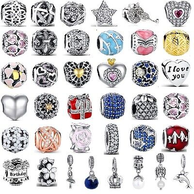 Authentic 925 Sterling Silver Best Sellers Love Charms fit Euro Charm