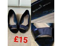 **M&S Blue Flat Work Shoes UK5**
