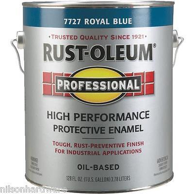 (1 Gal Royal Blue Rust-Oleum Protective Rust Control Gloss Enamel Paint 7727-402)