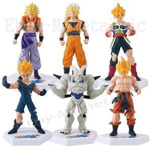 6x Dragon Ball Z Super Saiyan Goku Vegeta Badakshan 12cm-13cm PVC Figure Set
