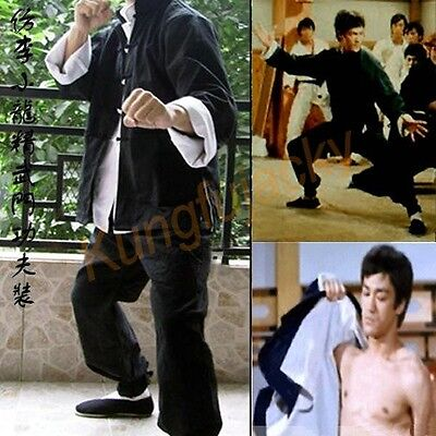 Vintage Wing Chun Kung Fu Outfit Uniform Bruce Lee Costume Martial Arts - Chun Lee Costume
