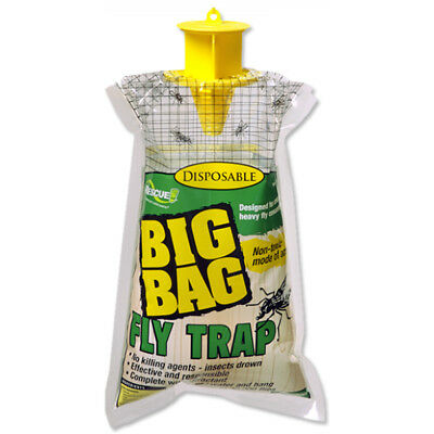 Big Bag Fly Trap - Rescue! BFTD-DB12 Disposable Big Bag Fly Trap, Up To 40000 Flies
