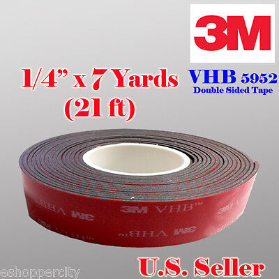 3m 14 X 7 Yard 21 Ft Vhb Double Sided Foam Adhesive Tape 5952 Automotive 0.25