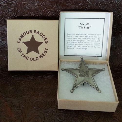 Tin Star Badge--Replica