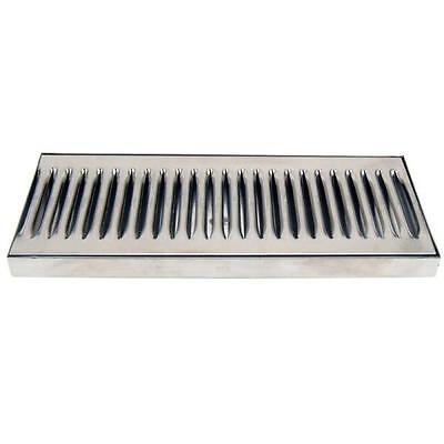 12 Countertop Drip Tray - Stainless Steel - Catches Draft Beer Spills Leaks