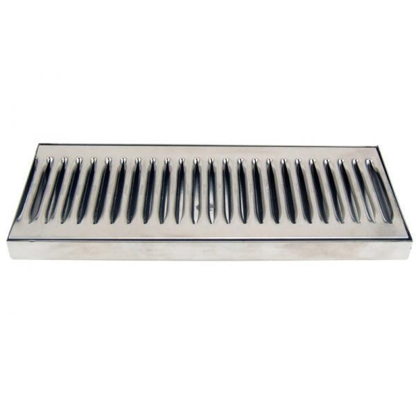 """12"""" Countertop Drip Tray - Stainless Steel - Catches Draft Beer Spills & Leaks!"""