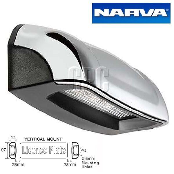 Narva Licence Plate Light & Housing LED Easy DIY Waterproof 10-33v Chrome 90862C